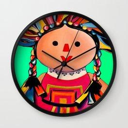 Mexican Maria Doll 3 Wall Clock