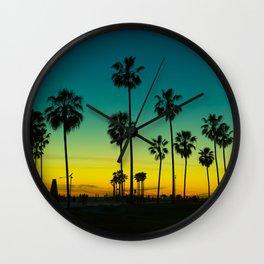 venice california at dusk Wall Clock