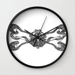 Girls Crossed Hair Wall Clock