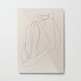 sacrament - one line art - pastel Metal Print
