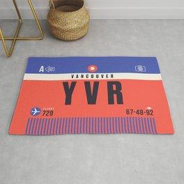 Baggage Tag A - YVR Vancouver Canada Rug