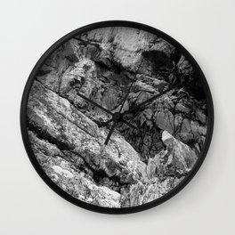 Rocky Cliff Face Wall Clock