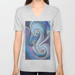 Swirl (blue and purple) Unisex V-Neck