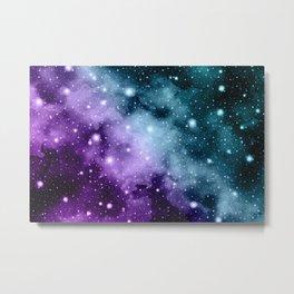 Purple Teal Galaxy Nebula Dream #3 #decor #art #society6 Metal Print