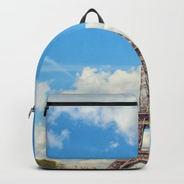 France Photography - The Eiffel Tower By Beautiful Hedges Backpack