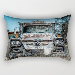 Apache Pickup Camper Relic of Route 66 in Tucumcari New Mexico Rectangular Pillow