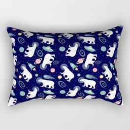 Polar Bears in Space Rectangular Pillow