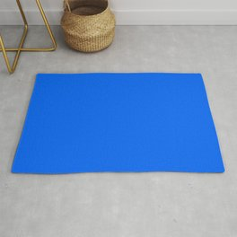 Unfinished ~ Bright Blue Rug