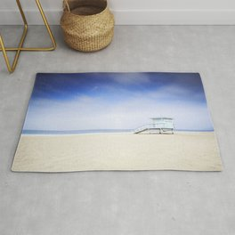 Zuma Beach Lifeguard Hut - Long Exposure Rug
