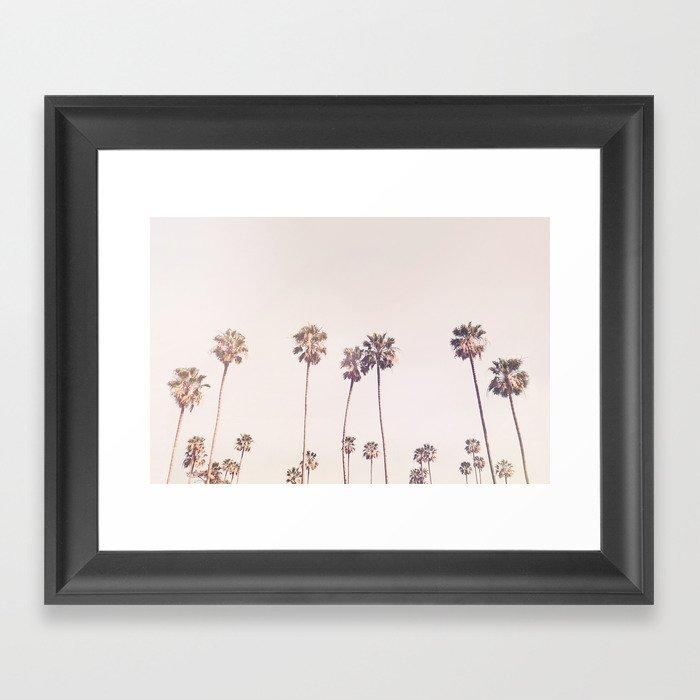 Sunny Cali Palm Trees Gerahmter Kunstdruck