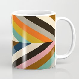 Mid Century Geometric Pattern Technicolor Diamond  Coffee Mug