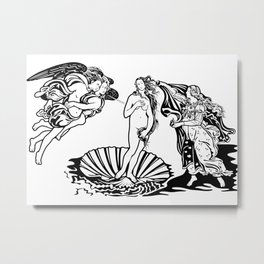 Sandro Botticelli The birth of Venus 1485 Sketch Metal Print