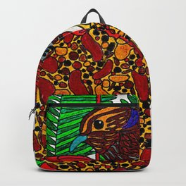 Little Bird In Evergreen Boughs Backpack