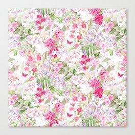 Vintage & Shabby Chic - Pastel Spring Flower Medow Canvas Print