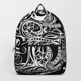Black And White Hawaiian Tribal Backpack