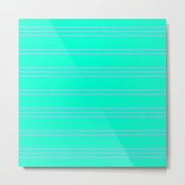 Simple Lines Pattern tp Metal Print