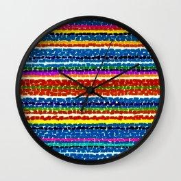 African American Masterpiece 'Light Blue Nursery No. 2'' by Alma Thomas Art Print Wall Clock