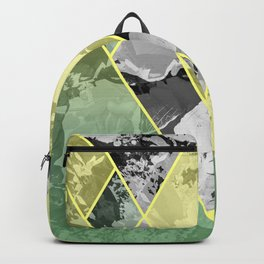 Contemporary Sunny Geometric Floral Pattern Backpack