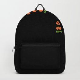 Happy Halloween - carved pumpkin gift idea Backpack