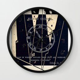 Upper West Side Quiet Hours Wall Clock