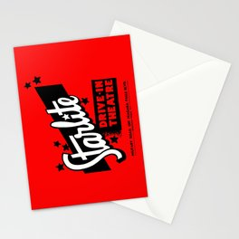 Starlite Drive In Red Stationery Cards