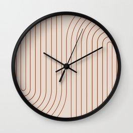 Minimal Line Curvature VI Wall Clock