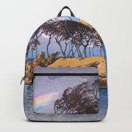 Kawase Hasui - Travel Souvenir Third Collection, Kaga, Hatta - Digital Remastered Edition Backpack