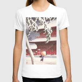 Japanese Art - The Zojo Shrine in Shiba by Kawase Hasui, 1925 T-shirt