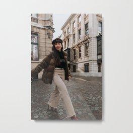 model in the city Metal Print