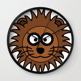 Cartoon Lovely Lion Head Wall Clock