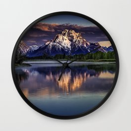 USA Grand Teton Nature Mountains Sky Parks landscape photography Rivers mountain park Scenery river Wall Clock