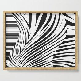 faux zebra Serving Tray