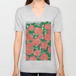 Blushing Roses Unisex V-Neck