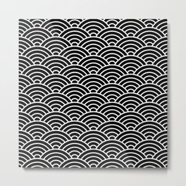 Japanese fan pattern in black Metal Print