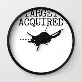 Target Acquired Cat Wall Clock
