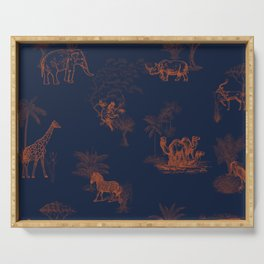 Zoology: Navy Serving Tray