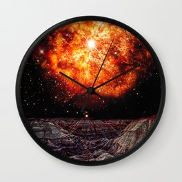 Fictional depiction of the Wolf-Rayet Star rising above the Blue Mesa in Petrified Forest National Park Arizona. Wall Clock