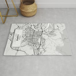 Taipei Taiwan City Map with GPS Coordinates Rug