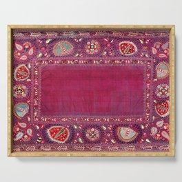 Shakhrisyabz  Southwest Uzbekistan Suzani Embroidery Print Serving Tray