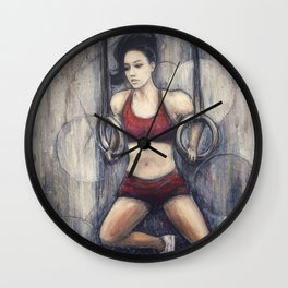 Strength and Beauty // Camille Bazinet Leblanc CrossFit Champion Athlete Woman Power Gymnastics Gym Wall Clock