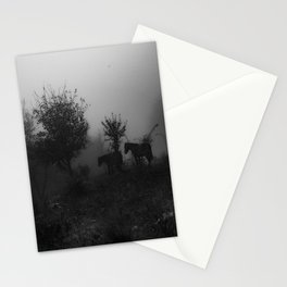 Herd of horses Stationery Cards