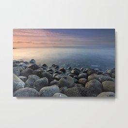 Volcanic ocean at sunrise. Santiago Beach. La Gomera Island Metal Print