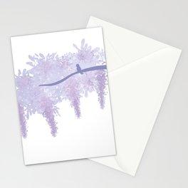 Pastel Bird On a Branch Stationery Cards