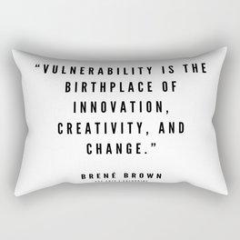 9     | Brené  Brown Quotes | 190524 | White Design Rectangular Pillow