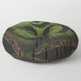 OM Tibetan Green Floor Pillow