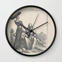 Go and get yourself killed for me, from 'News of the day,' published in Le Charivari, August 10, 187 Wall Clock