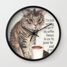 Coffee Cat Wall Clock