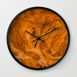 Natural Stone Art-The Cistern, Gold Butte, NV Wall Clock