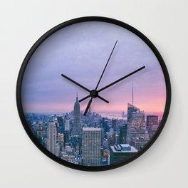 New York Sunset, I love NYC (Manhattan, Brooklyn, Queens) Wall Clock