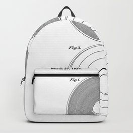 Phonograph Record Vintage Patent White Art Print Backpack